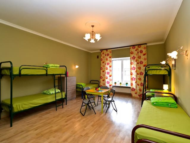 Bed in 8-bed dormitory room. Hostel City812