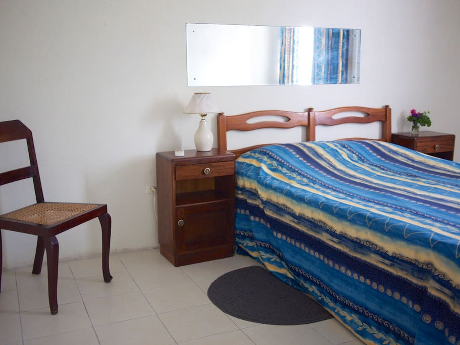 Spacious master bedroom with a/c