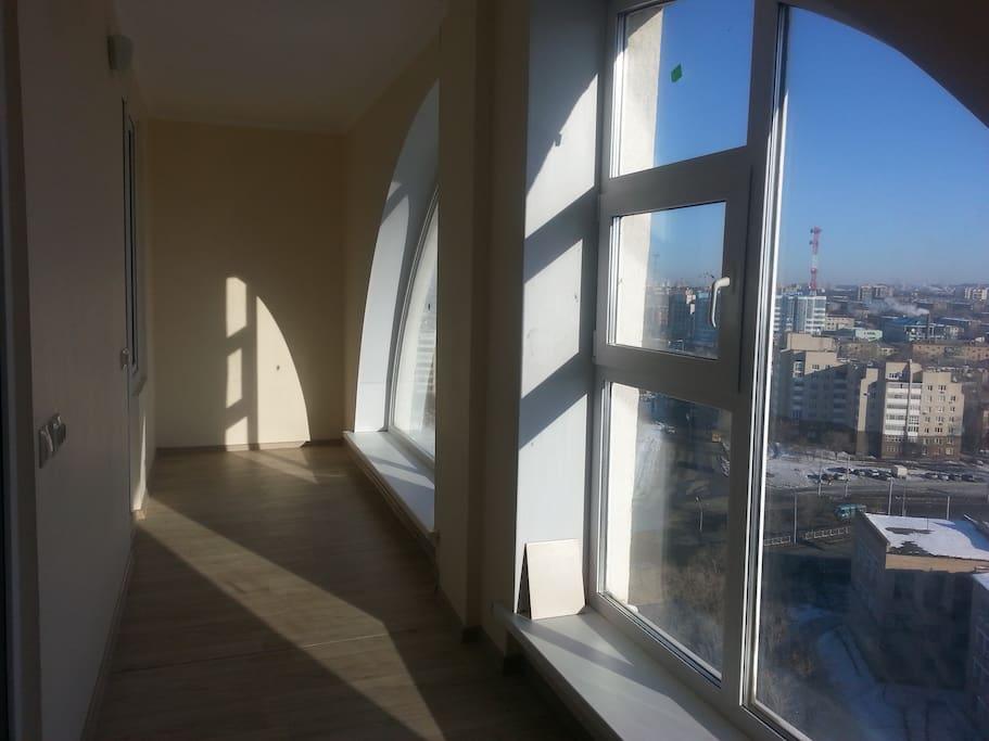 чистый воздух и релаксирующий вид из окна