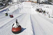 Winter Snow Tubing.