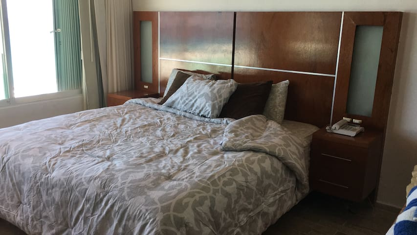 Master bedroom, king size bed, closet and in Suite bathroom (shower and toilette) no bathtub