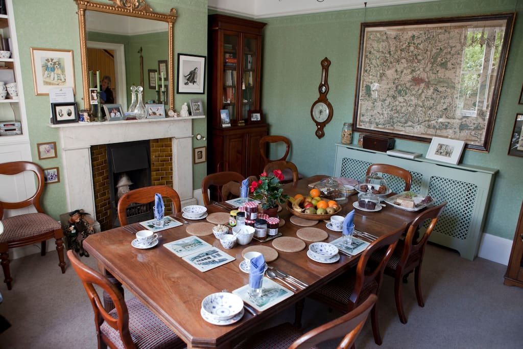 The breakfast room (shared with other guests in the B&B)
