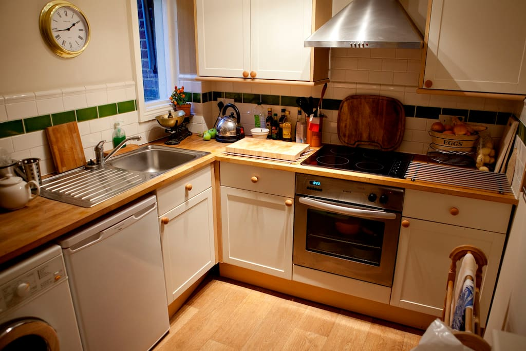 Private kitchen in the self contained flat