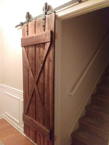 Barn door to access loft.