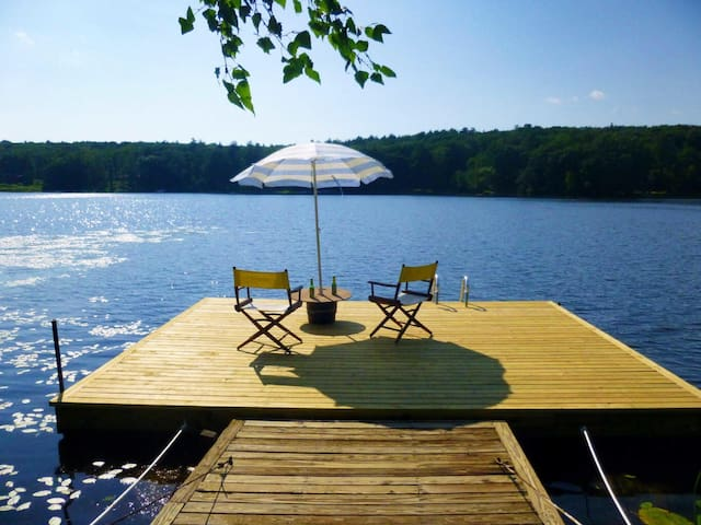 Private dock overlooking the gorgeous lake!