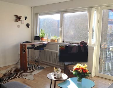 Scandinavian apartment with balcony - Frederiksberg