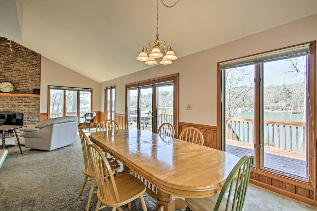 Take in the scenic lake views from the numerous long-view windows.