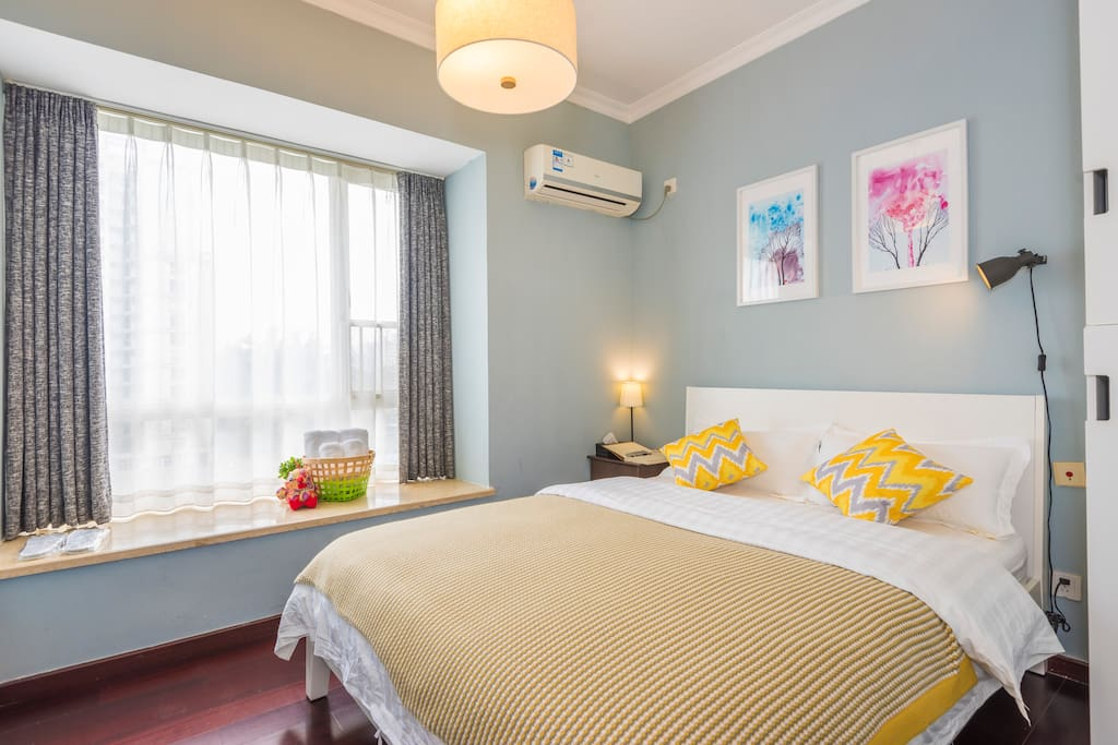 舒适明亮的卧室,给你一个好梦