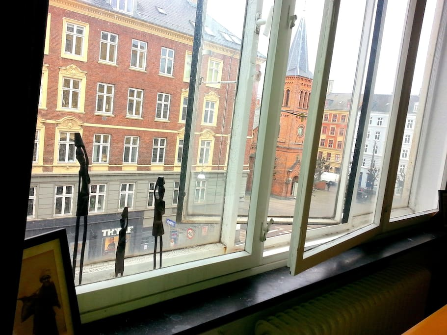 Nørrebrogade, the main street of the neighboorhood, is just outside your window