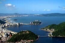 Vista da baia de São Vicente