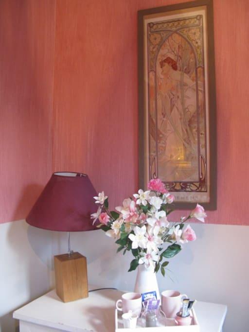 Chambre rose au vieux moulin chambres d 39 h tes louer - Chambre d hotes le poteau rose ...