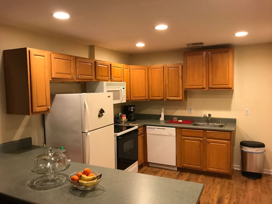Fully equipped kitchen to enjoy a home cooked meal in after a long day at work or play.