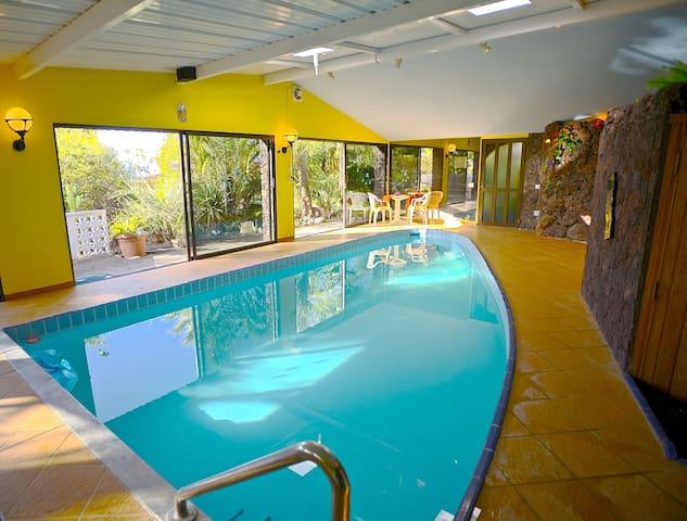 Guesthouse- Pool- Sauna- Kitchen- paradise garden - La Matanza de Acentejo - Dům pro hosty