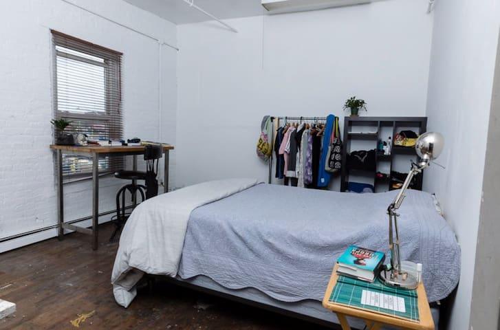 Private Bedroom in Loft Studio