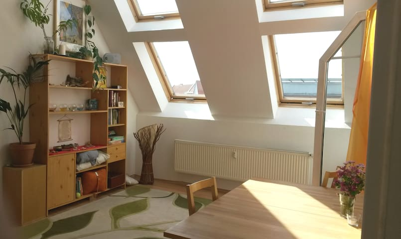 Spacious, cozy rooftop flat with a balcony - Berlín - Byt