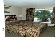 Room View of Upstairs With One Queen Size Bed.