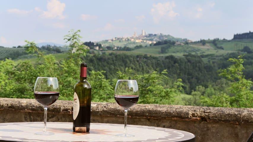 THE BEST VIEW bilocale vista su San Gimignano