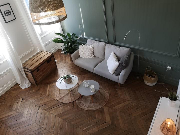 Appartement cosy, hyper centre, parking gratuit