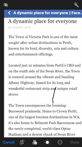 Have a look at what VICTORIA PARK has to offer, not your boring suburbs!
