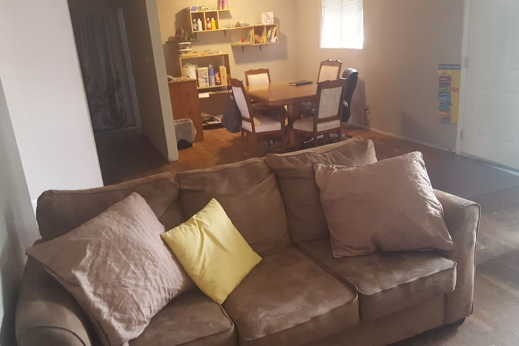 Couch in living room.