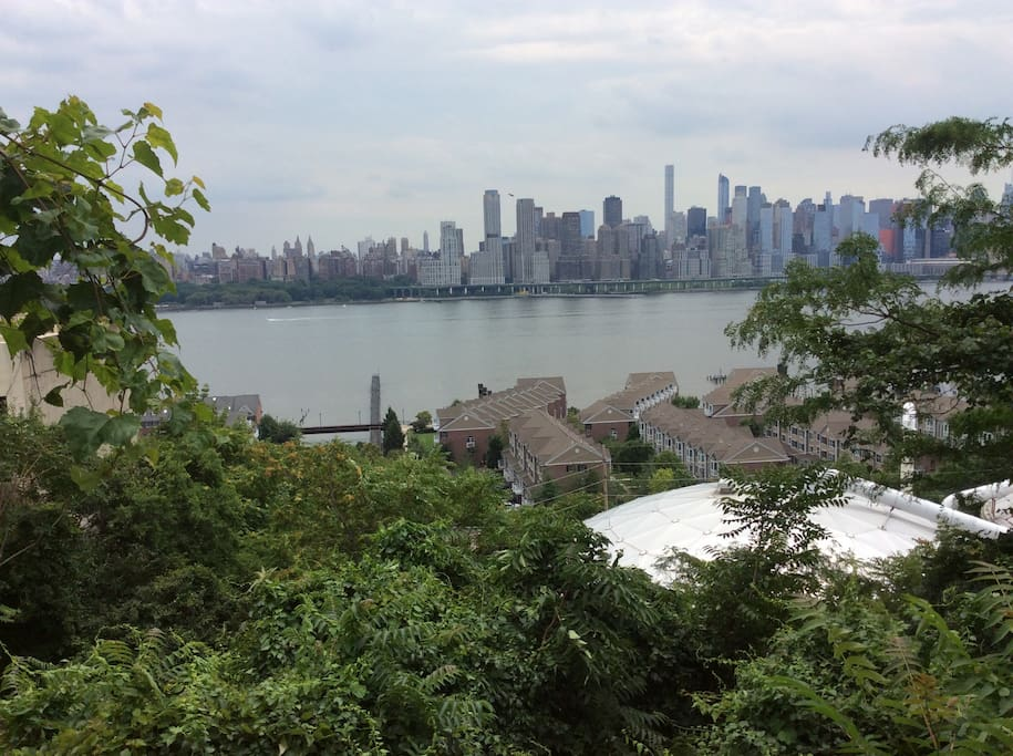 View when you step out of building. If you love walking or running. You are down by the Hudson River in 5min and then you can run up as far as the GW bridge an on..