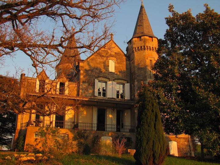 La chambre du Géographe, au château du Plantey
