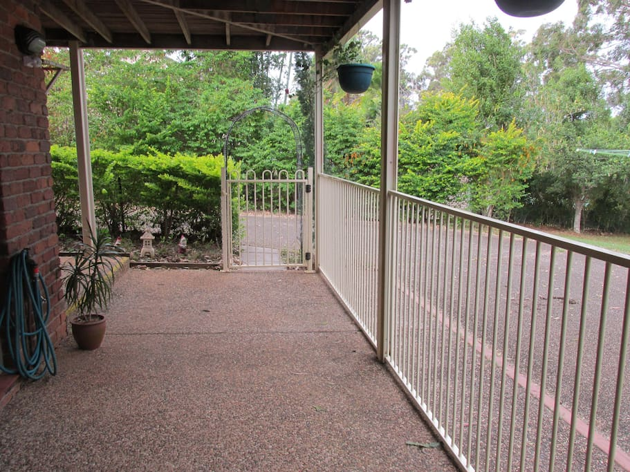 Gated Private entry to Villa