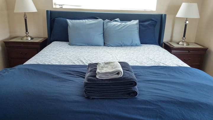 King size pillow top mattress, with smart TV.
