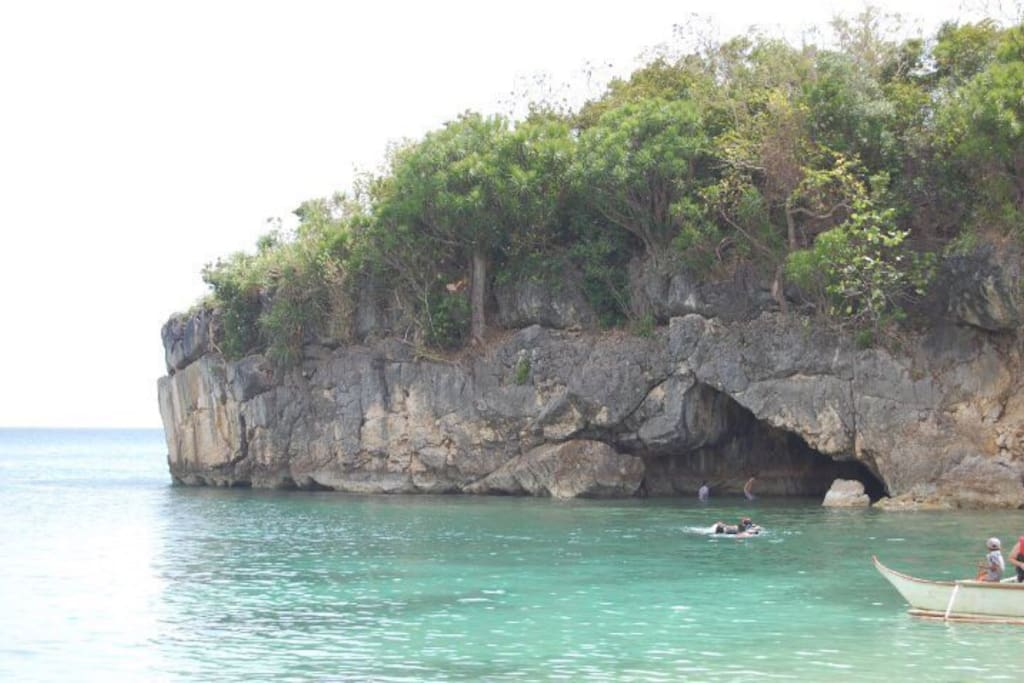 Cave in while you enjoy the pristine waters of Kwebang Lampas
