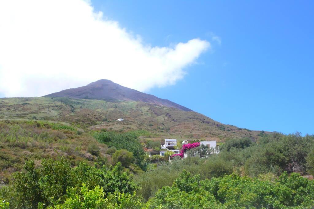 vistdel vulcano dal giardino