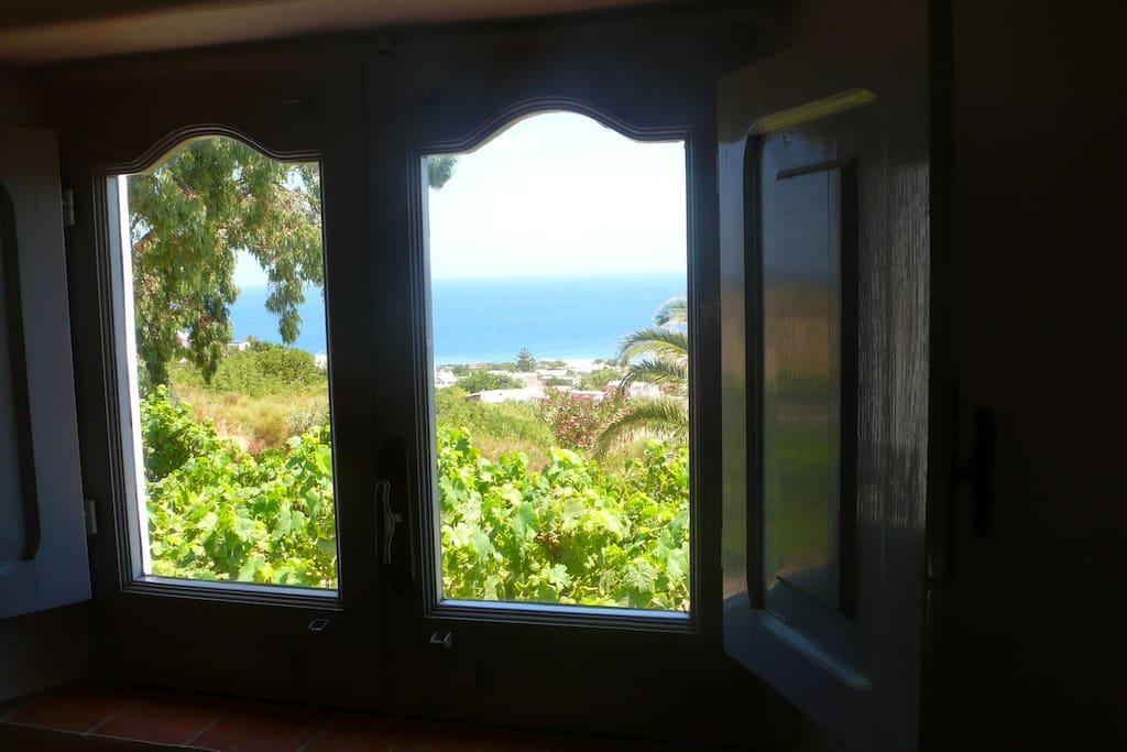 vista dalla finestra del soppalco