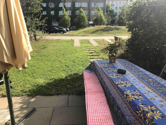 Grüne Oase im Zentrum von Berlin