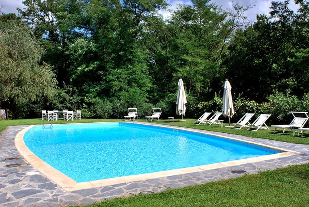La piscina di 14mt. x 7. The pool 46x 23 feet
