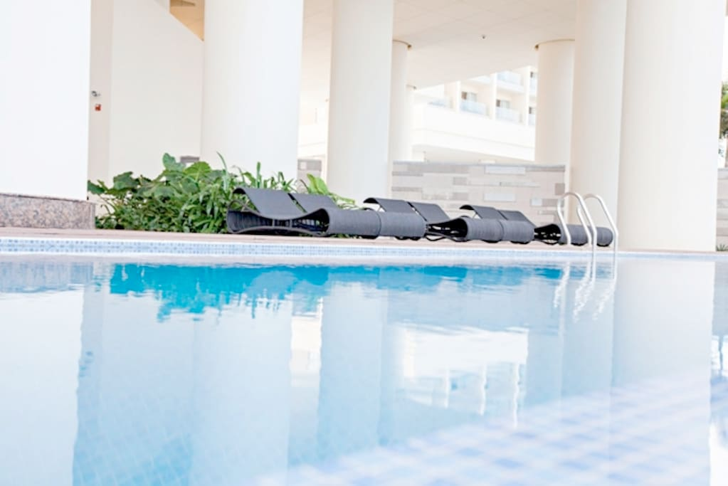 Free. Swimming pool for all residences and tenants on 2nd floor.