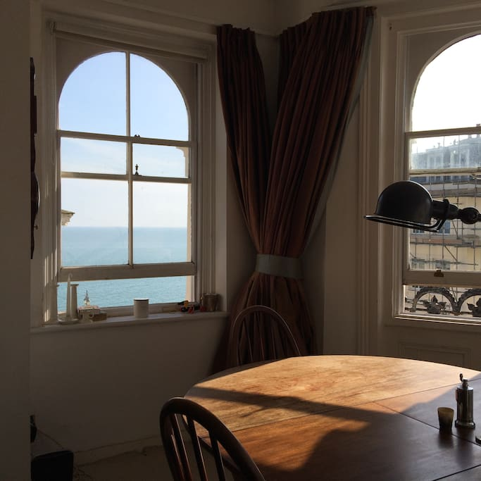 Sea view from the living room windows