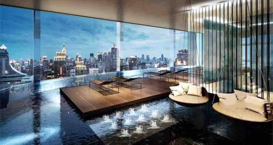 High rise infinity pool, Bangkok Center曼谷中心、高楼无边泳池