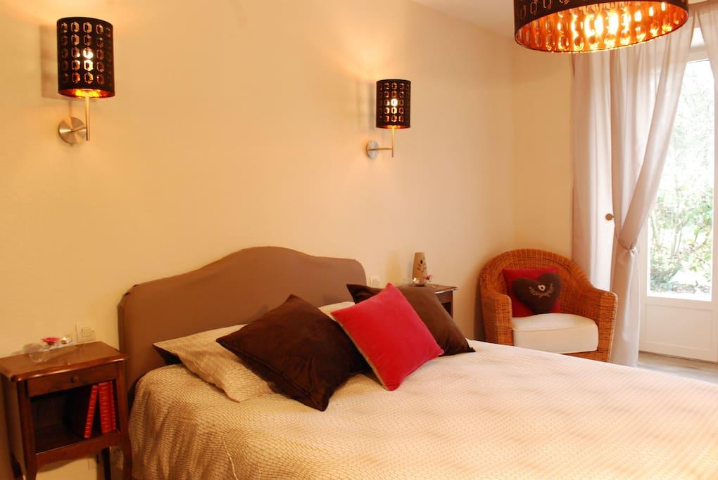 La chambre refaite à neuf : ambiance cosy