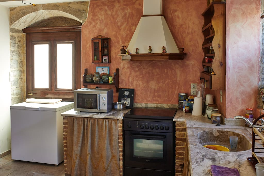 Fully equipped Kitchen with all amenities and equipment needed for preparing meals and snack