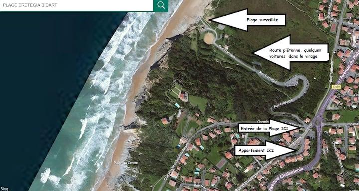 Appt  T2  à 200 m de l'Océan,  2 pers, Wifi inclus