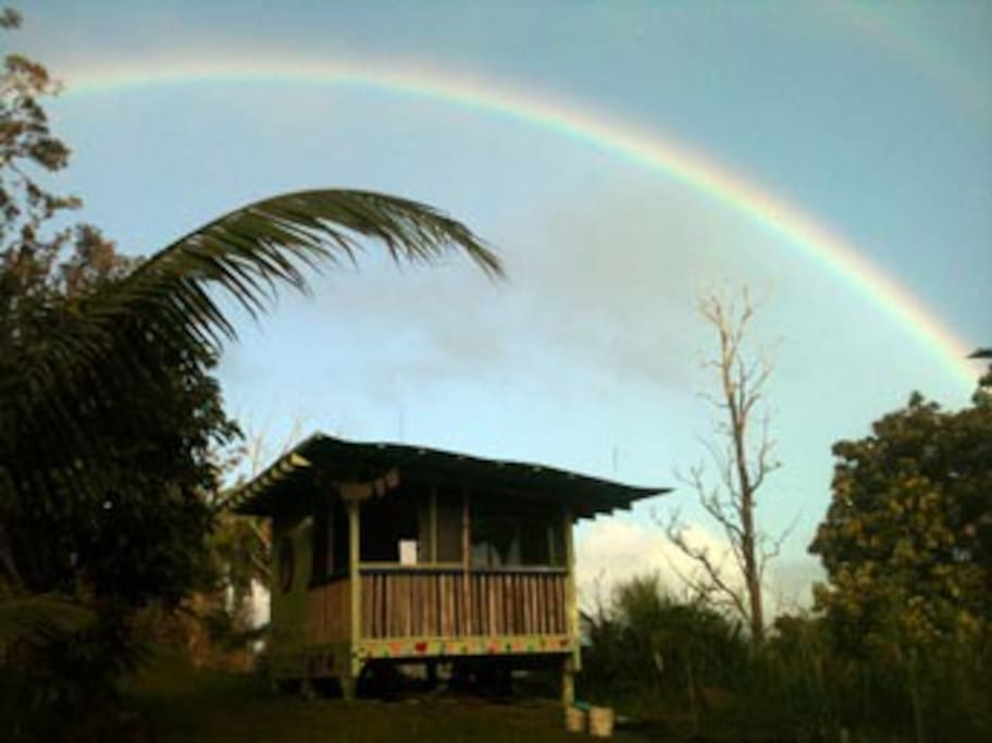 The Kahuna Cabin under a Hawaiian Rainbow!