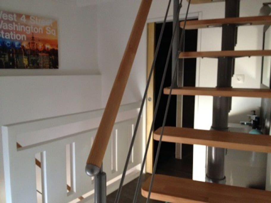 Niveau intermédiaire 2ième escalier