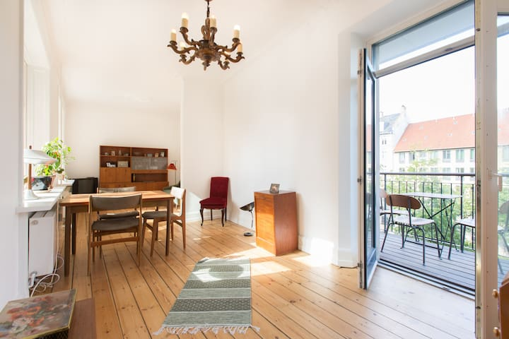 Apartment with sunny balcony