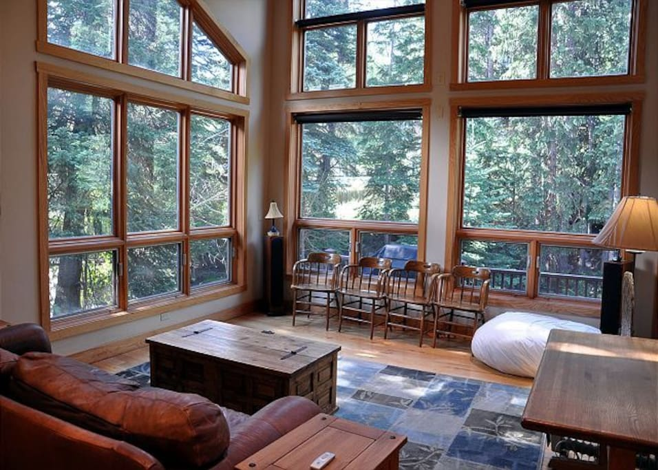 Windows are floor to ceiling and let in lots of light