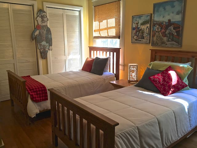 BEDROOM 3 - Twin Beds, Armoire with storage for clothes.