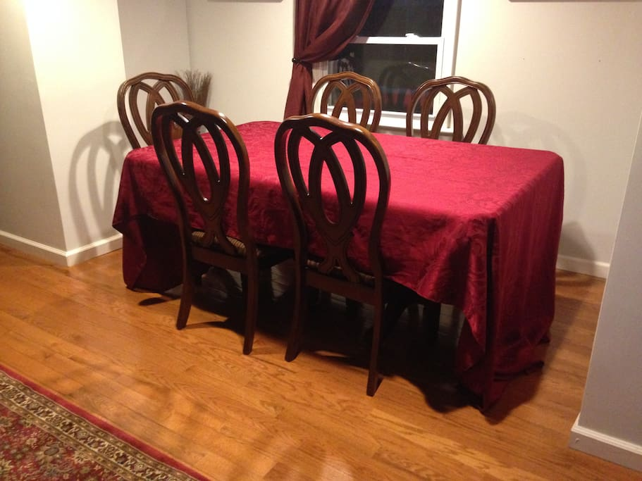 1st floor Dining Room, table has removable leaf and can seat 8