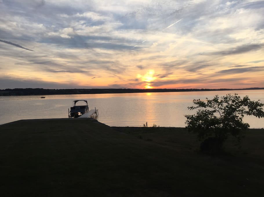 Beautiful sunsets over the west side of Owasco Lake!