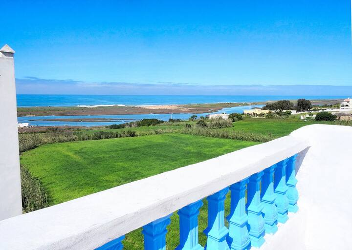 Studio Oualidia terrasses avec vue sur mer