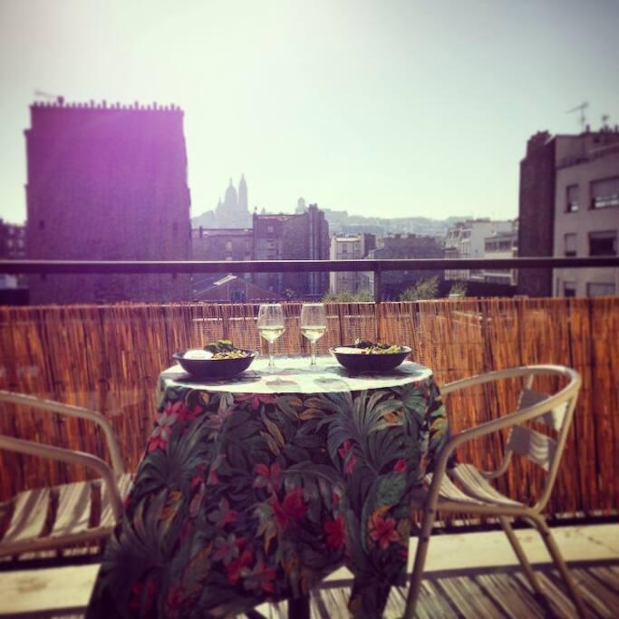 La vue, la terrasse