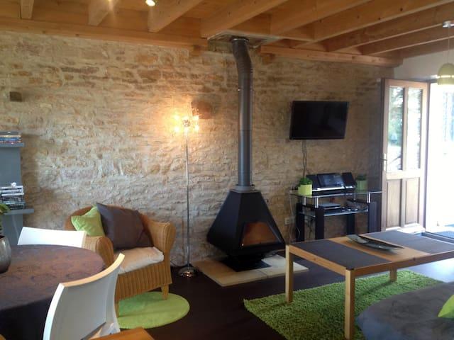 Beau Gîte avec Piscine Court séjour ou semaine - Champagny-sous-Uxelles - Apartmen