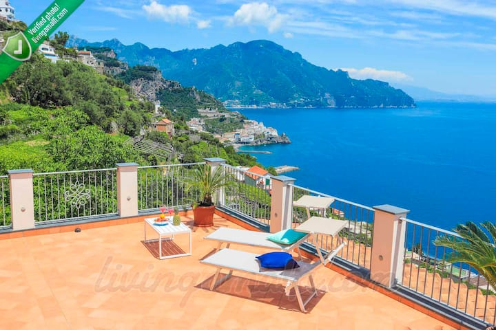 Amalfi: Villa Donna Luisa luxury sea view dwelling
